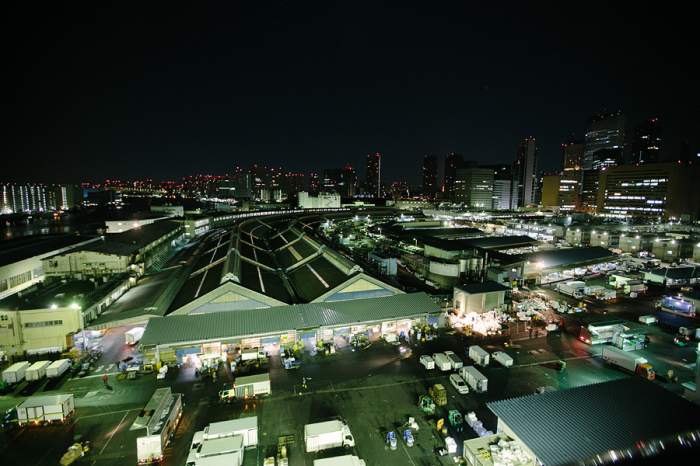 Tsukiji Fish Market at Night