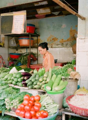 Vegetables at Benh Thanh Ho Chi Minh