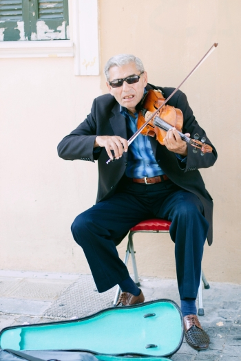 Violinist in Athens