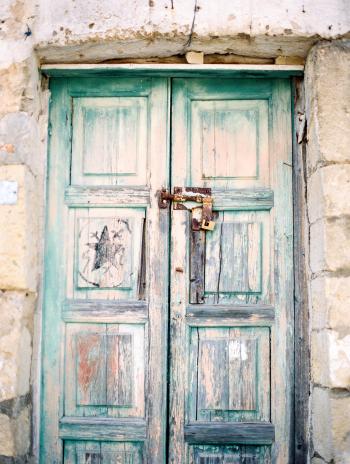 Weathered Door in Sassi Caves Italy
