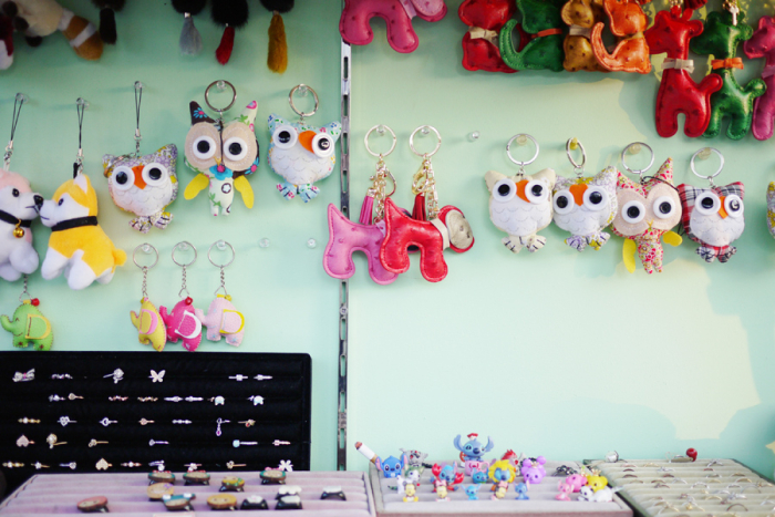 Animal Keychains in Seoul South Korea
