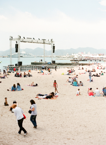 Beach Stage in Cannes France