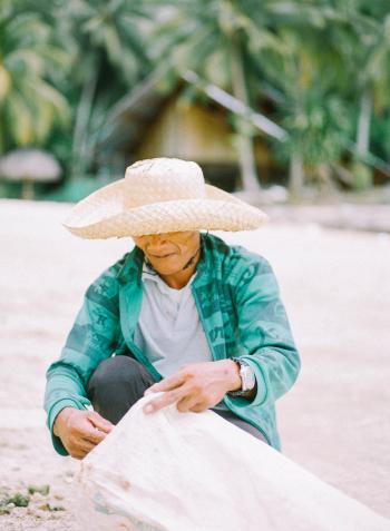 Beach Vendor in the Philippines