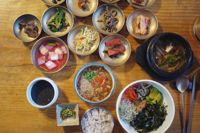 Dinner Spread in Seoul South Korea