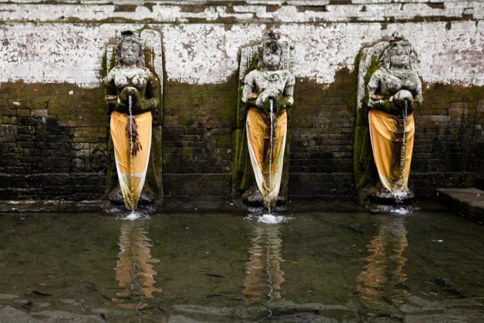 Fountains at Goa Gajah Bali