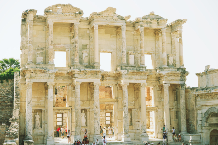 Library of Celsus Ruins in Turkey