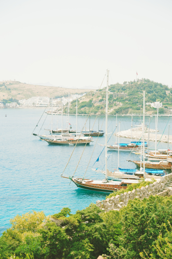 Marina in Bodrum Turkey