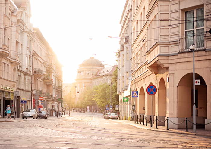 Morning in Poznan Poland