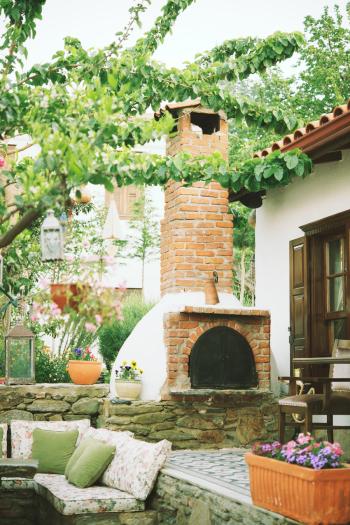 Outdoor Fireplace at The Markiz Konaklari Boutique Hotel