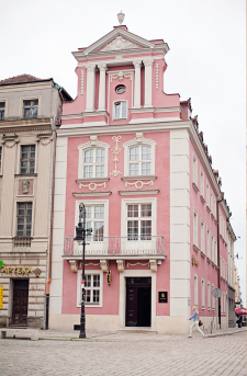 Pink Building in Poznan Poland