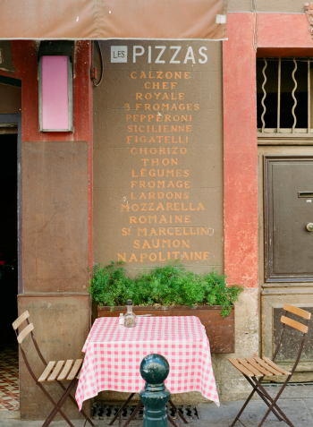 Pizza Menu in the Aix en Provence