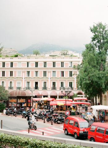 Red Taxis on the Streets of Monaco
