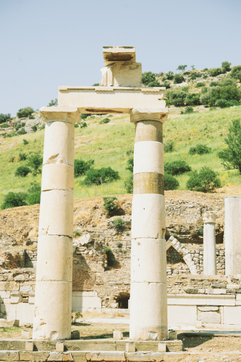 Ruins at the Library of Celsus