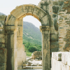 Stone Archway at the Library of Celsus