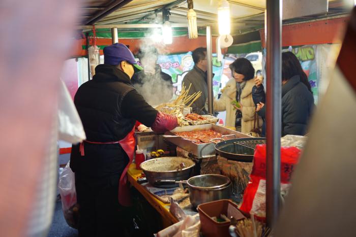 Street Food in Seoul South Korea