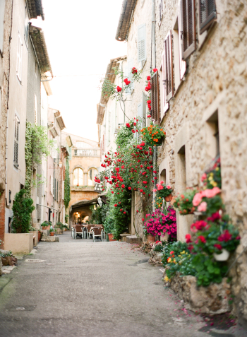 Streets and Flowers of Valbonne France
