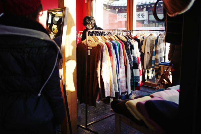 Sweaters in Garosugil Seoul