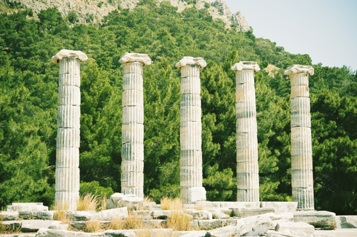 Temple of Athena in Priene Turkey