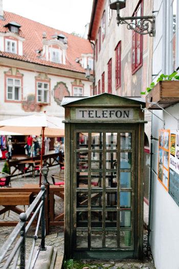 Vintage Phone Booth Cesky Krumlov