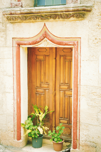 Wood Door in Bodrum Turkey