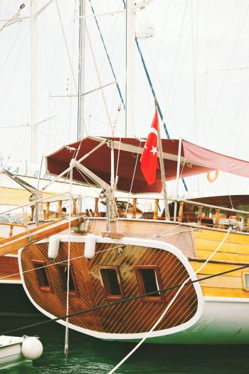 Wood Sailboat in Bodrum Turkey