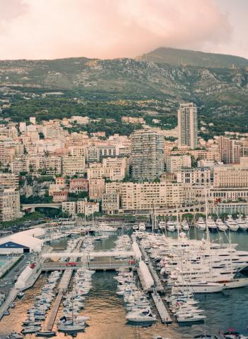 Yachts in the Monaco Harbor