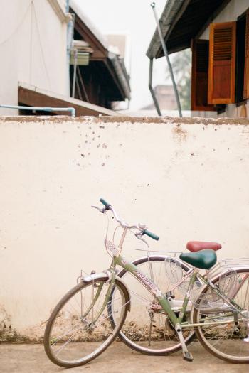 Bicycles in Luang Prabang