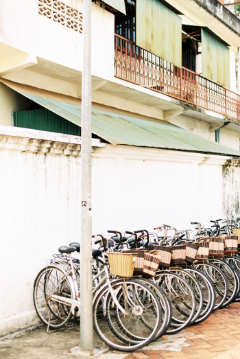 Bicycles in Vientiane Laos