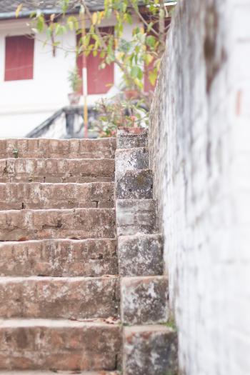 Brick Steps to Phou Si Mountain