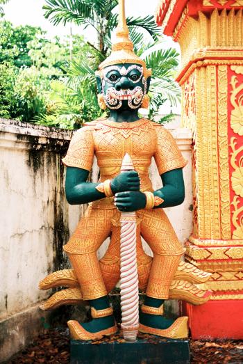 Buddhist Statue in Vientiane Laos