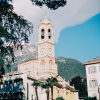 Church Clock Tower in Lake Como