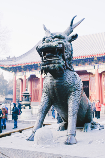 Dragon Statue in Summer Palace