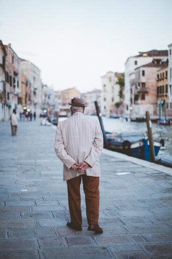 Elderly Gentleman in Venice Italy
