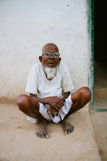 Elderly Man in Alipura India