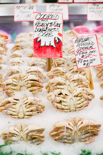 Fresh Crab at Pike Place Market in Seattle