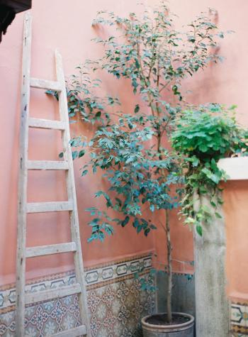 Green Patio Nook in Morocco