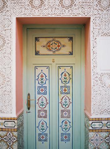 Intricate Door Details in Morocco