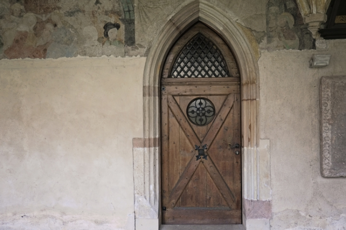 Intricate Wood Door in Bolzano Italy