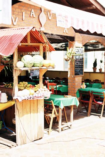 Market Cafe in Vientiane Laos