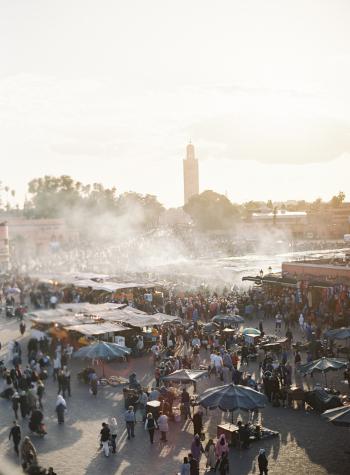 Market in Marrakech Morocco
