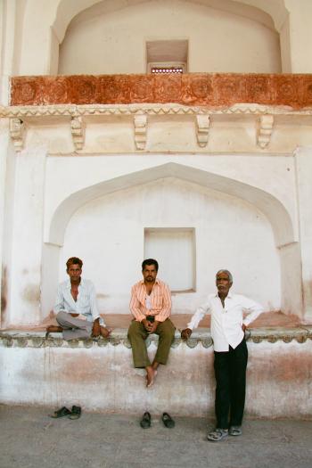 Men in Amber Fort of Jaipur