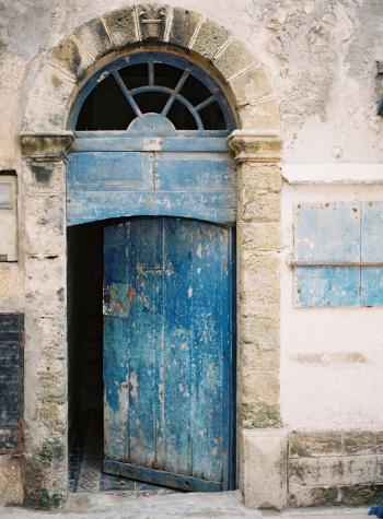 Old Blue Door in Morocco