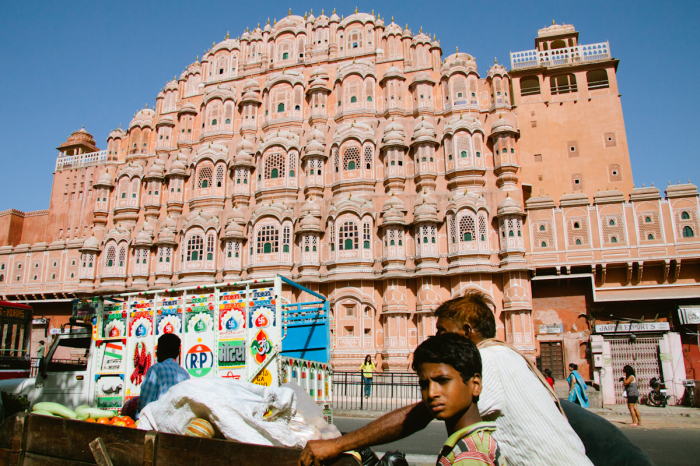 Palace of the Winds in Jaipur India