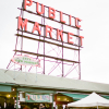 Pike Place Public Market Sign in Seattle