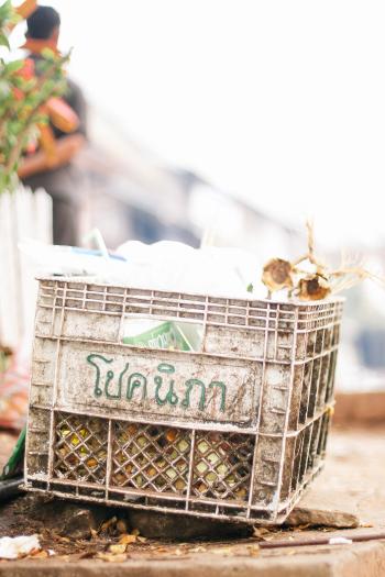 Plastic Crate in Luang Prabang