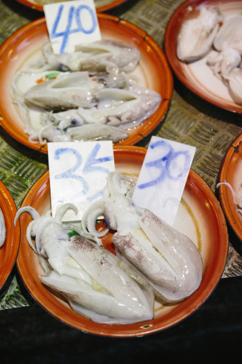 Squid at the Mongkok Market