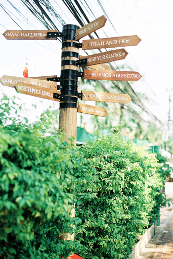 Street Signs in Vientiane Laos
