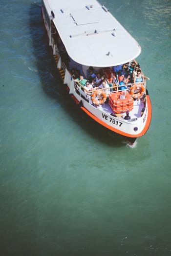 Tourist Boat in Venice Italy
