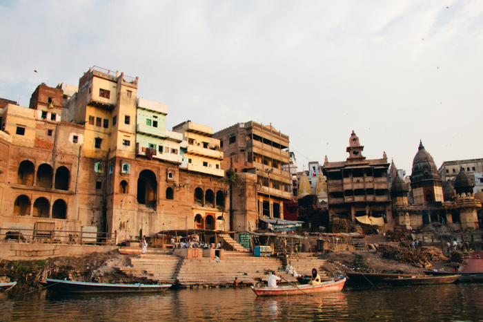 View from the River in Varanasi India