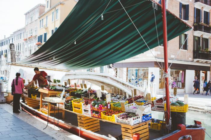 Water Market in Venice Italy